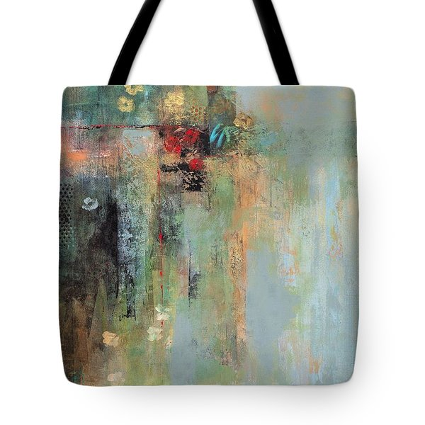 Golden Flowers Tote Bag by Frances Marino