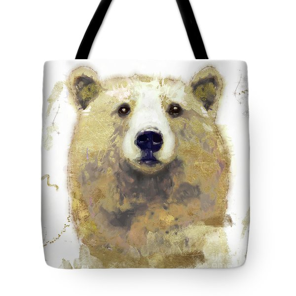 Golden Forest Bear Tote Bag