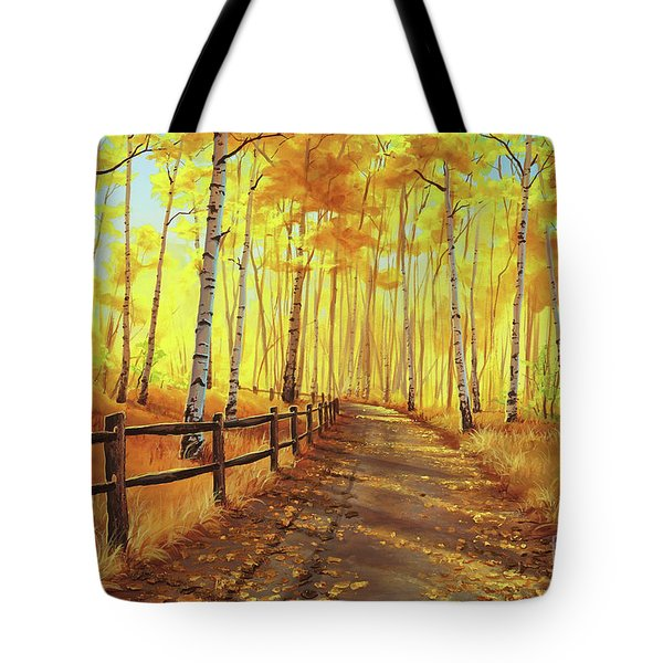 Golden Forest Tote Bag