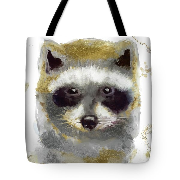 Golden Forest Raccoon  Tote Bag