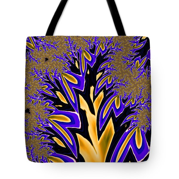 Tote Bag featuring the photograph Golden Fractal Tree by Ronda Broatch