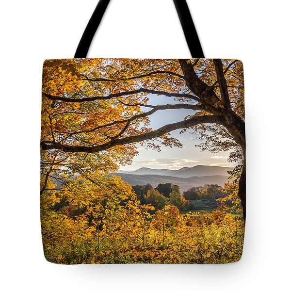 Vermont Framed In Gold Tote Bag