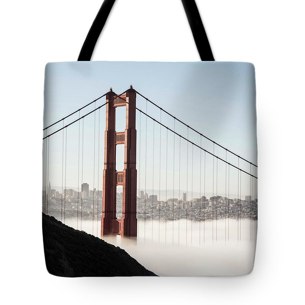 Tote Bag featuring the photograph Golden Gate And Marin Highlands by David Bearden
