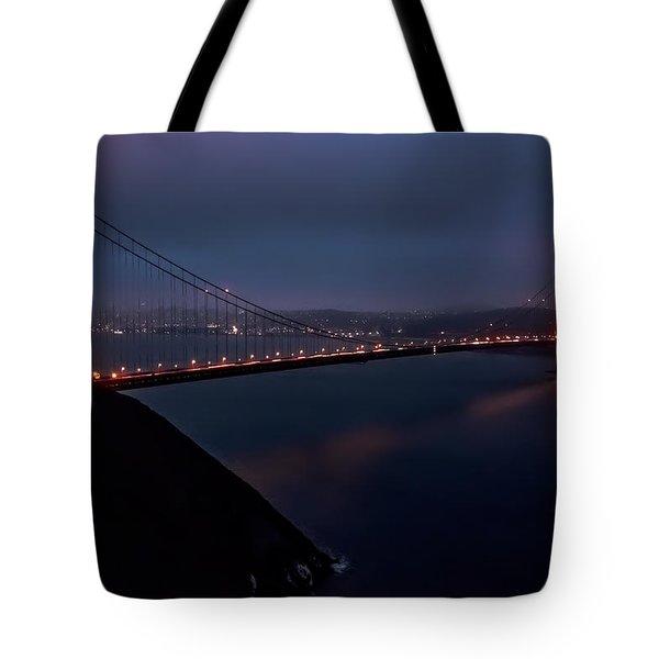 Golden Gate At Night Tote Bag