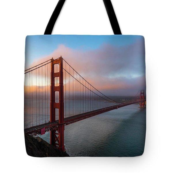 Golden Gate At Sunrise Tote Bag