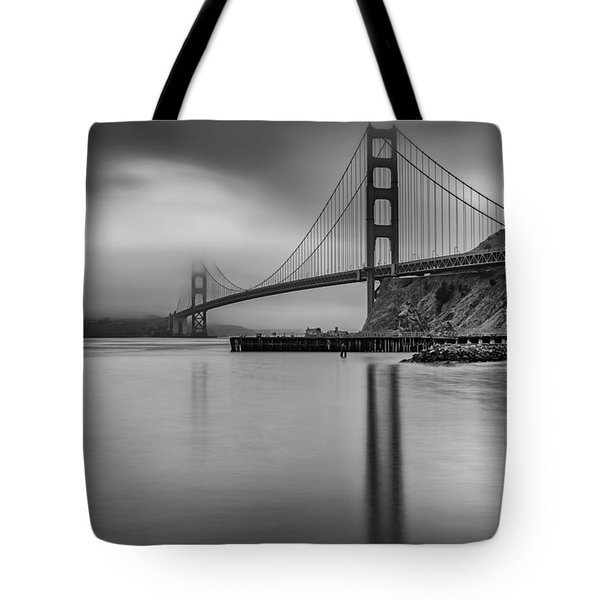 Golden Gate Black And White Tote Bag