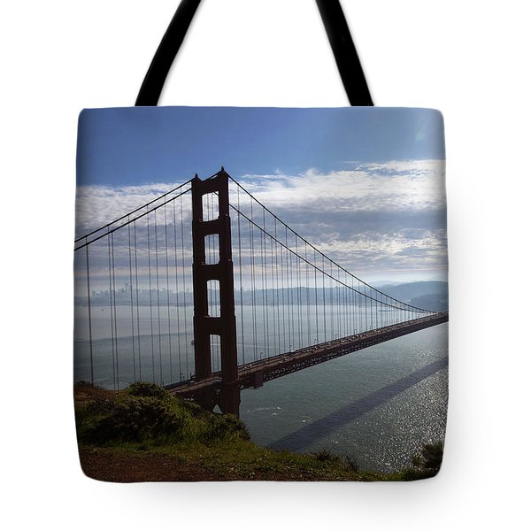 Tote Bag featuring the photograph Golden Gate Bridge-2 by Steven Spak