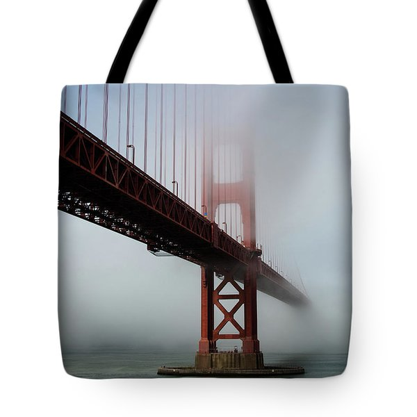 Tote Bag featuring the photograph Golden Gate Bridge Fog 2 by Stephen Holst
