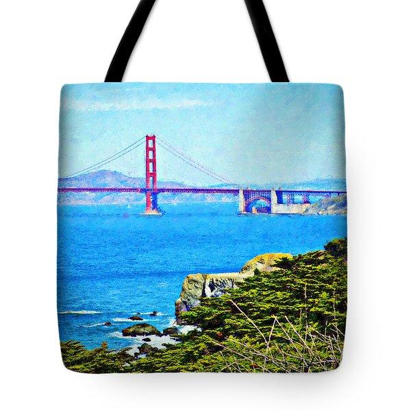 Golden Gate Bridge From The Coastal Trail Tote Bag