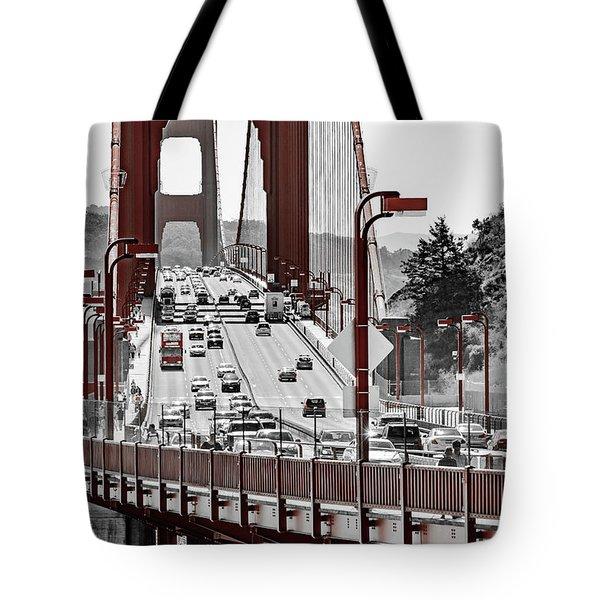 Golden Gate Bridge Street View Tote Bag