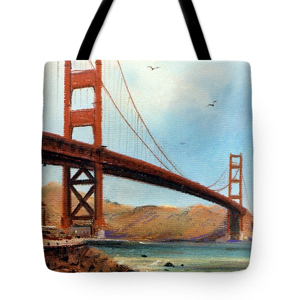 Golden Gate Bridge Looking North Tote Bag