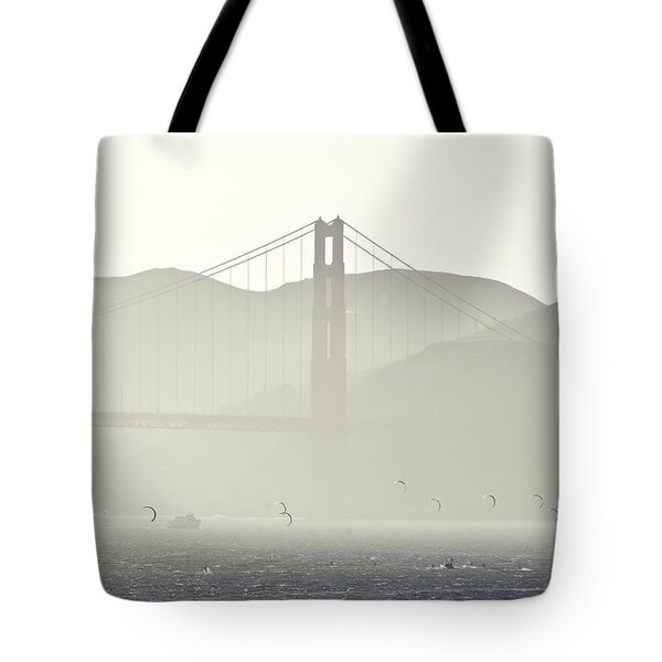 Golden Gate Bridge Tote Bag by Paul Plaine