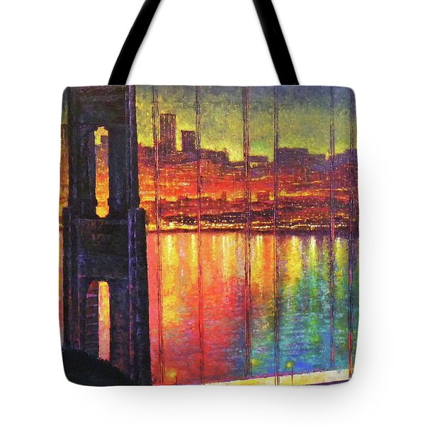 Golden Gate Bridge Tote Bag by Raffi Jacobian