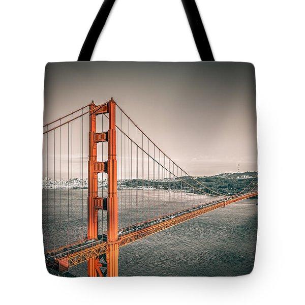 Golden Gate Bridge Selective Color Tote Bag