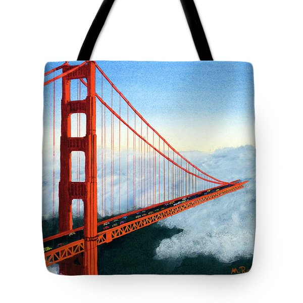 Golden Gate Bridge Sunset Tote Bag by Mike Robles