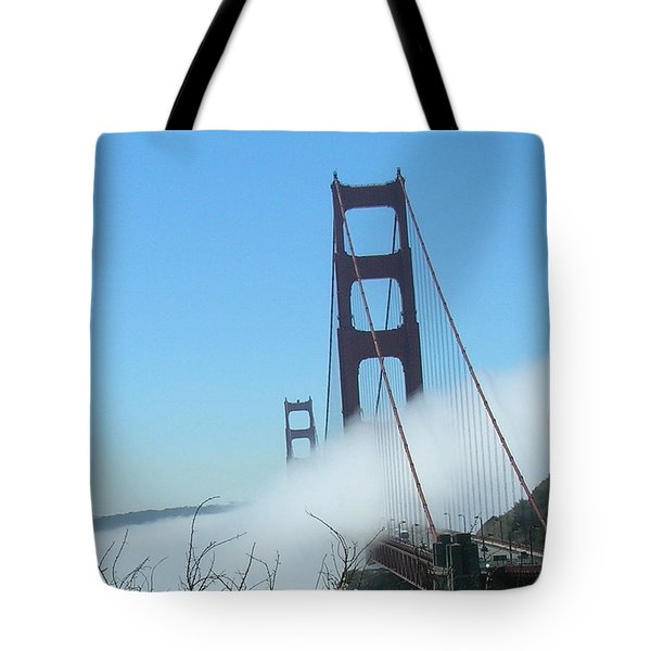 Golden Gate Bridge Towers In The Fog Tote Bag