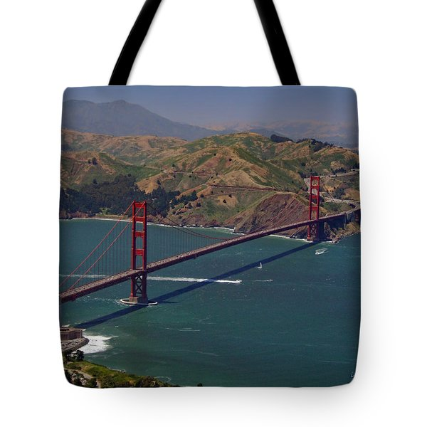 Golden Gate Tote Bag by Donna Blackhall