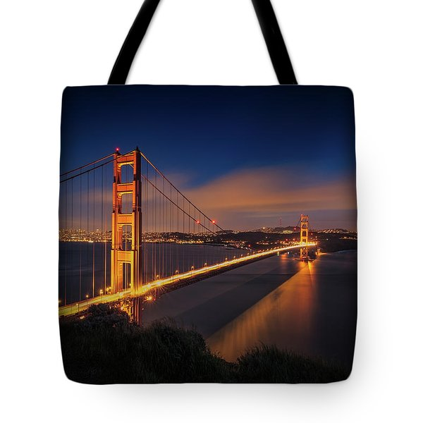Golden Gate Tote Bag by Edgars Erglis