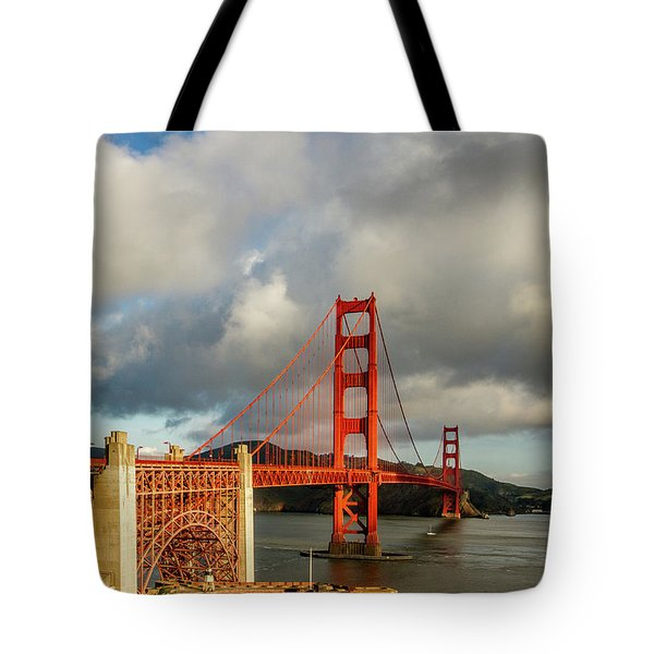 Tote Bag featuring the photograph Golden Gate From Above Ft. Point by Bill Gallagher