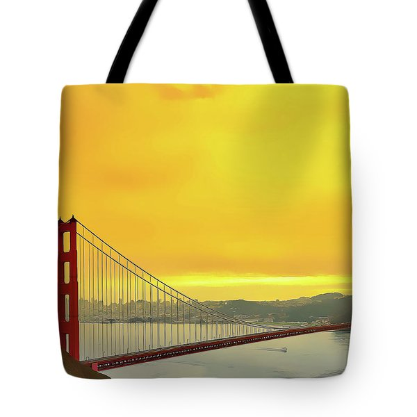 Tote Bag featuring the painting Golden Gate by Harry Warrick