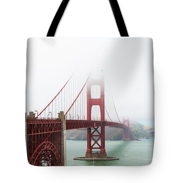 Golden Gate In The Fog Tote Bag