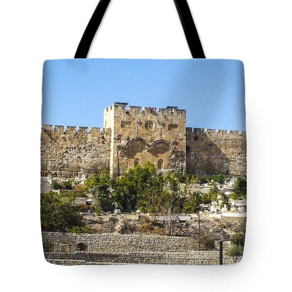Golden Gate Jerusalem Israel Tote Bag