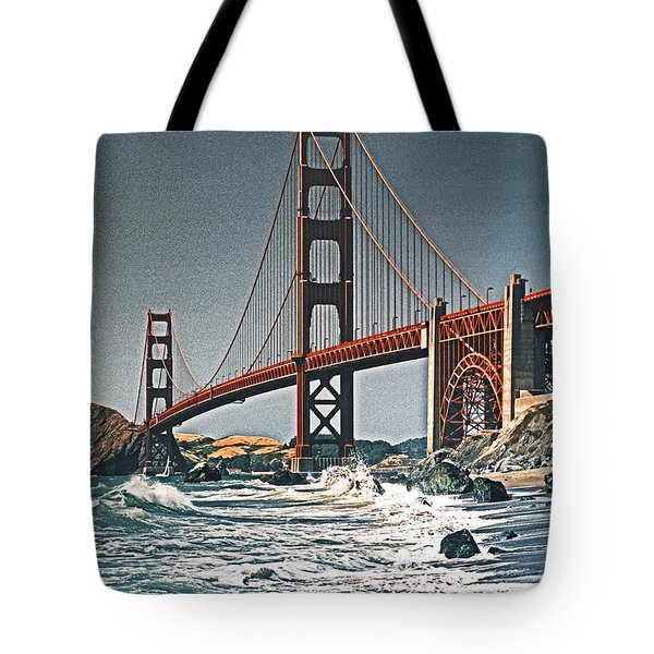 Golden Gate Surf Tote Bag by Dennis Cox WorldViews