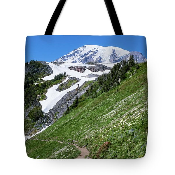 Tote Bag featuring the photograph Golden Gate Trail by Sharon Seaward