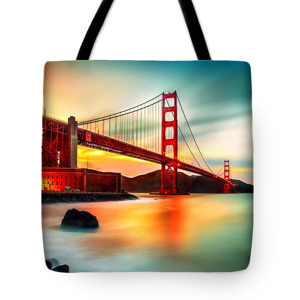 Golden Gateway Tote Bag
