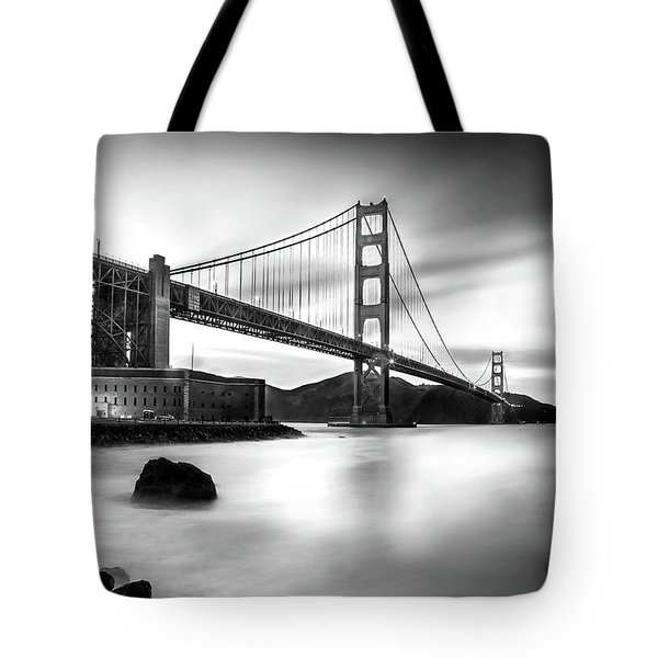 Golden Gateway Bw Tote Bag