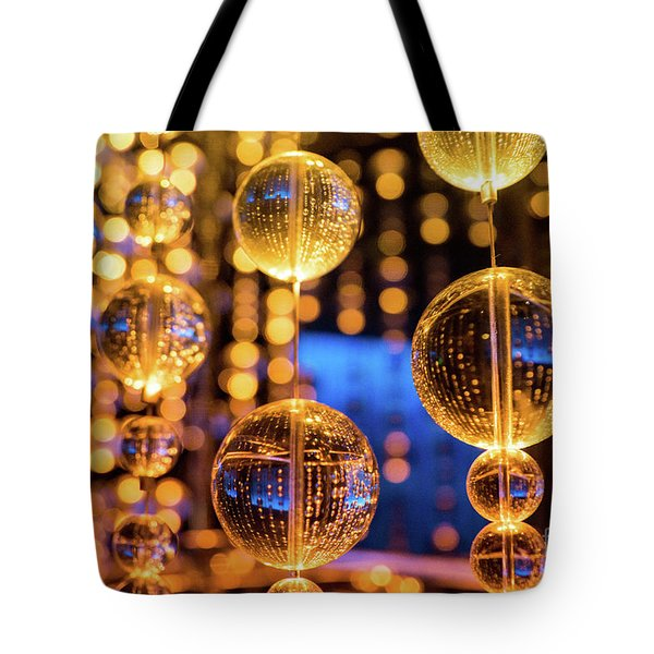 Golden Glass Bubbles Tote Bag