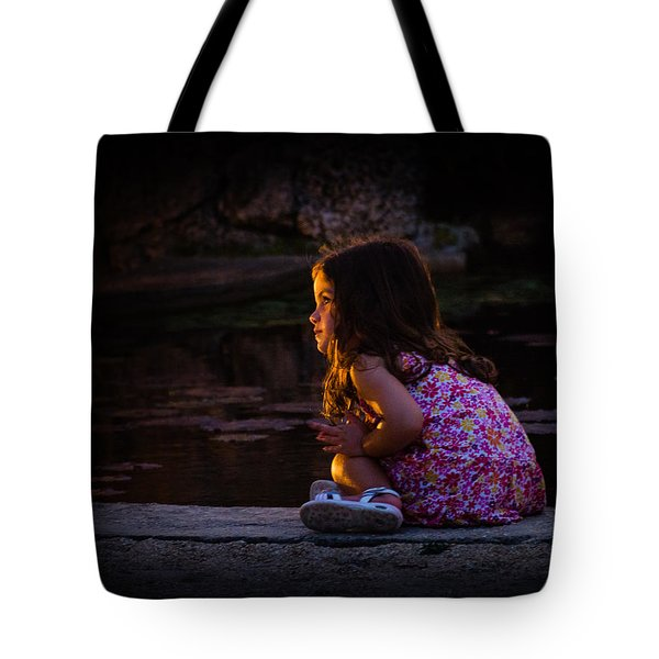 Golden Glow Girl Tote Bag