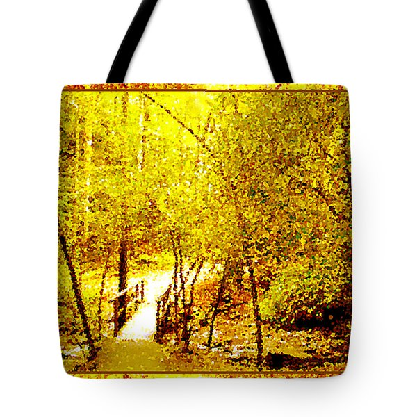 Golden Glow Tote Bag by Seth Weaver