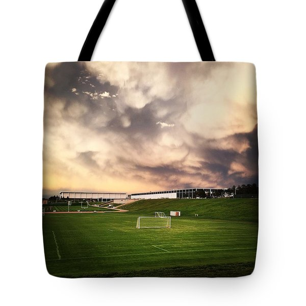 Golden Goal Tote Bag by Christin Brodie