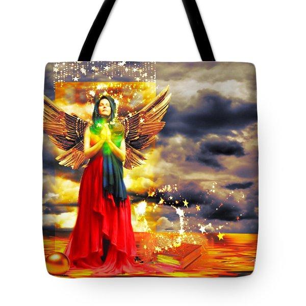 Golden Goddess Of Gratitude Tote Bag