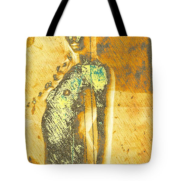 Golden Graffiti Tote Bag