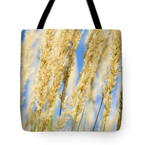 Tote Bag featuring the photograph Golden Grains by Christi Kraft