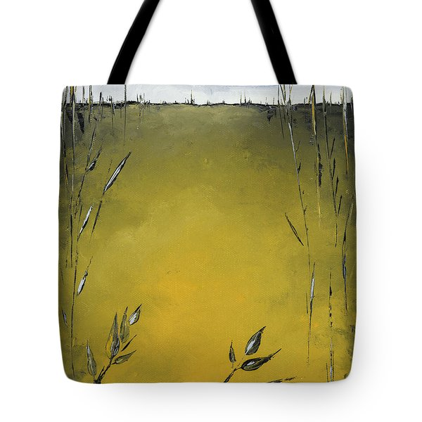 Golden Greens Tote Bag by Carolyn Doe