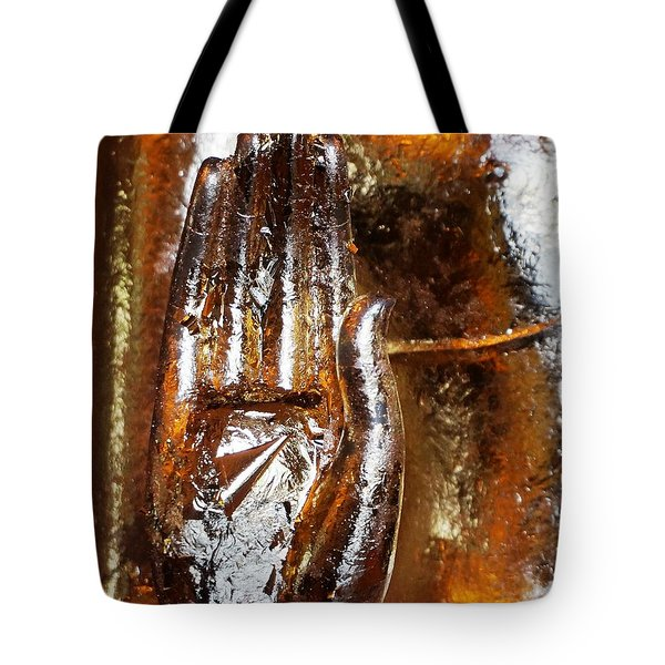Golden Hand Tote Bag by Julia Ivanovna Willhite