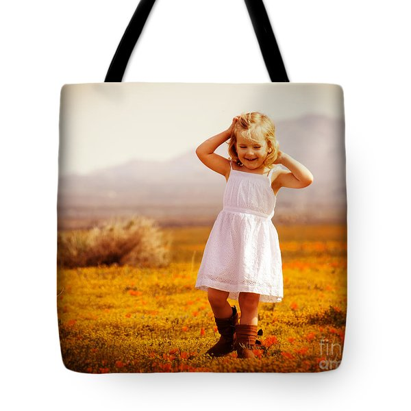 Golden Happiness Tote Bag