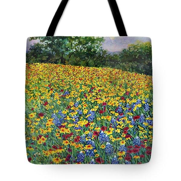 Golden Hillside Tote Bag