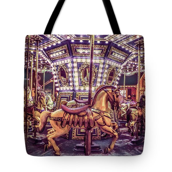 Golden Hobby Horse Tote Bag