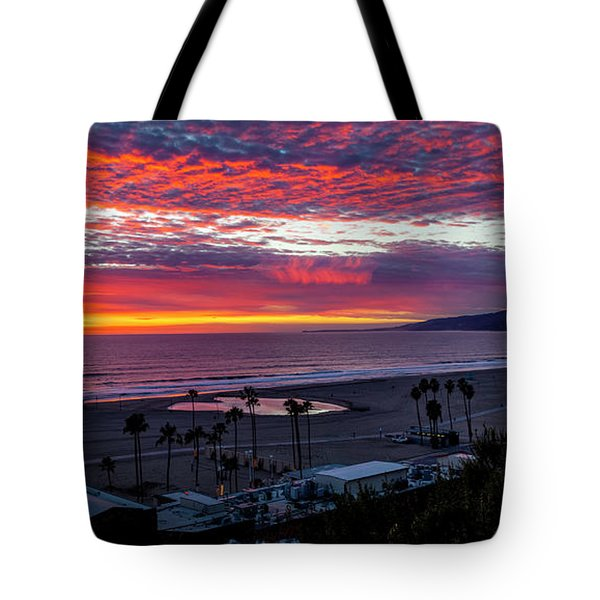 Golden Horizon At Sunset -  Panorama Tote Bag