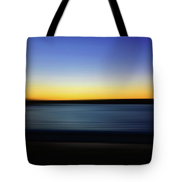 Tote Bag featuring the digital art Golden Horizon by Gina Harrison