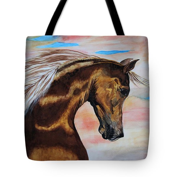 Golden Horse Tote Bag