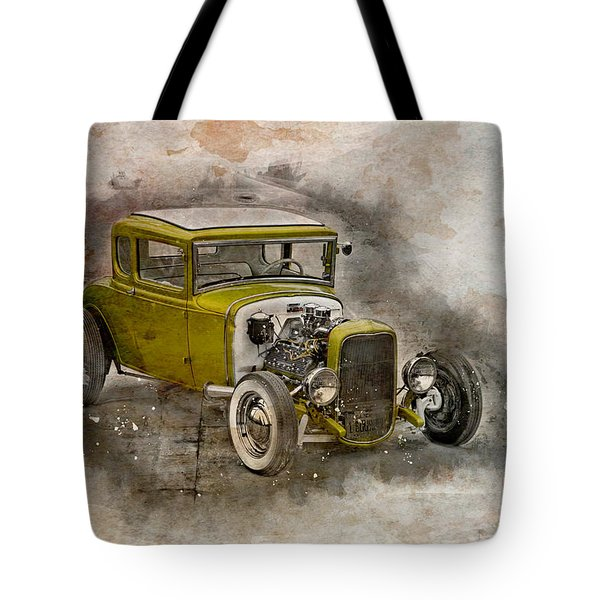 Tote Bag featuring the photograph Golden Hot Rod by Joel Witmeyer