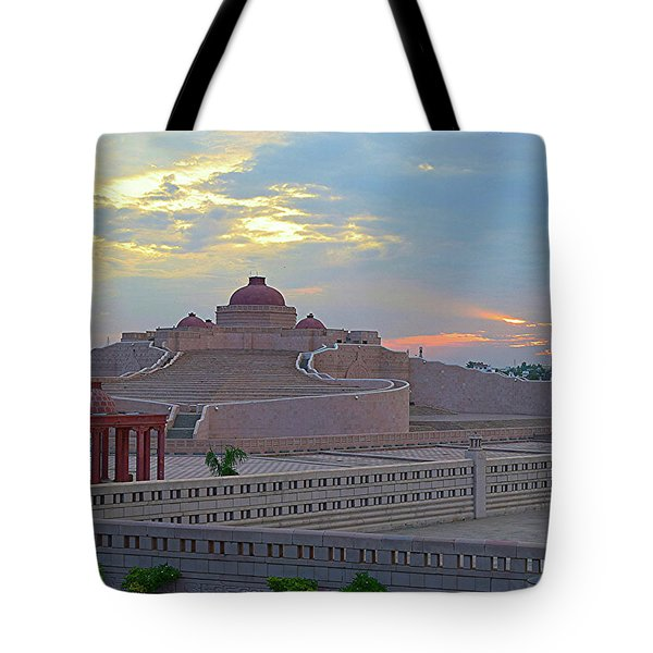 Golden Hour At Ambedkar Park Tote Bag