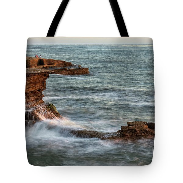 Golden Hour At Sunset Cliffs Tote Bag