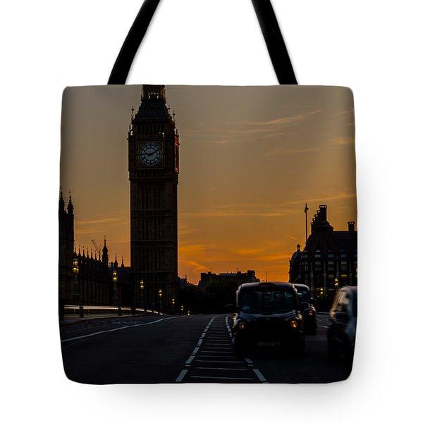 Golden Hour Big Ben In London Tote Bag