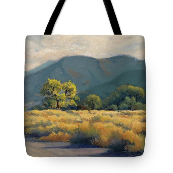 Golden Hour In Owen's Valley Tote Bag